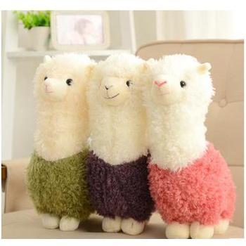 草泥马羊驼公仔毛绒玩具抱枕羊年吉祥物婚庆压床布娃娃45cm