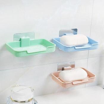 (生活用品)一个装吸壁式香皂盒肥皂盒创意镂空卫生间沥水皂托洗衣皂盒香皂架肥皂架