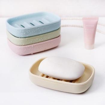 (生活用品)双层沥水肥皂盒香皂盒卫生间创意大号便携皂托浴室肥皂架香皂架 一个装