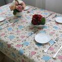 风信子棉麻餐桌布台布盖巾