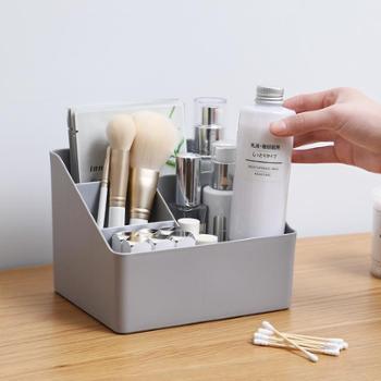 桌面收纳盒杂物整理盒家用多功能塑料多格遥控器收纳化妆品置物架