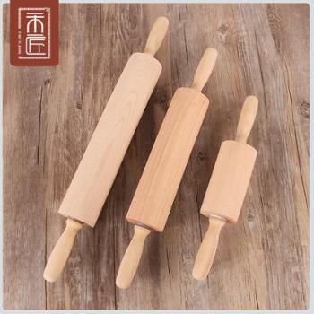 实木擀面杖无漆无蜡榉木滚轴擀面棍饺子皮压面棍