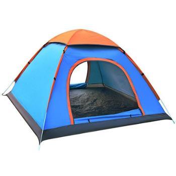 自由之舟骆驼帐篷户外3-4人全自动帐篷野外露营