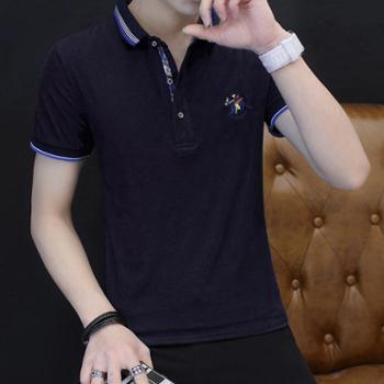 卓狼夏季男士短袖t恤翻领纯色polo衫半袖男装体恤潮T1713dqc