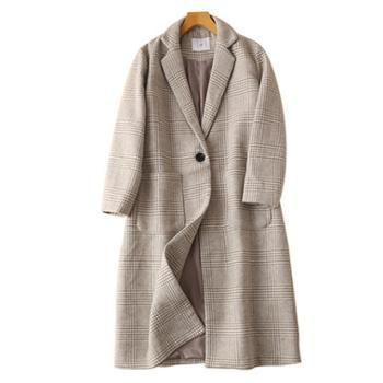 毛呢大衣女冬季新款显瘦气质加厚羊毛呢子中长款外套