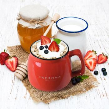 银酷(INCROMA) MOO MOO印刻陶瓷马克杯牛奶杯咖啡杯水杯杯子 350ml