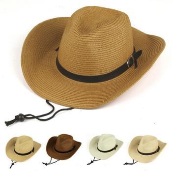 男士西部牛仔帽 可折叠防嗮草帽沙滩遮阳帽大沿帽