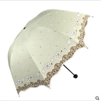 天堂伞 百花公主创意蘑菇黑胶防紫外线晴雨伞