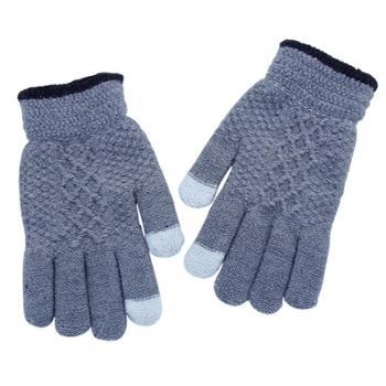 信吉冬季触屏手套针织手套保暖时尚韩版骑行魔术全指手套