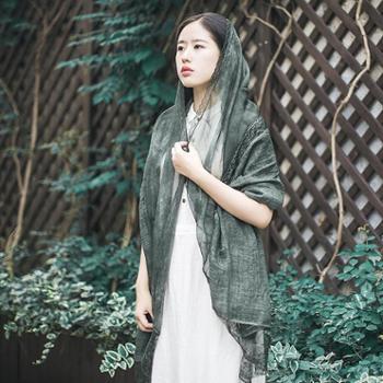 女披肩 蕾丝纯色超大沙滩防晒丝巾 多功能两用围巾