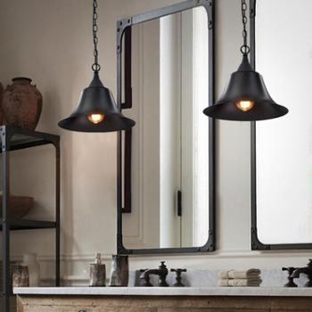 loft复古工业餐厅吊灯创意个性过道灯单头吧台吊灯咖啡馆美式灯具