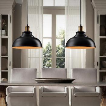 美式复古吊灯餐厅创意个性吧台咖啡厅酒吧吊灯服装店单头铁艺灯具
