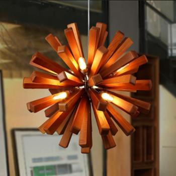 高比灯具 美式吊灯客厅餐厅卧室咖啡厅馆吊灯酒吧店铺创意个性简约艺术灯具