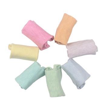 俞兆林女士7双纯色棉质短袜均码