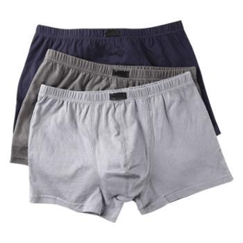 络华男士平角内裤纯色棉质三条装7457