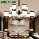 雷士照明 新中式客厅吊灯 儒雅中国风 铁艺仿古现代简约大气客厅中式灯 新古典创意灯具中国风