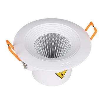 雷士照明新款特惠LED筒灯射灯家用天花灯3W5W过道客厅嵌入式筒射灯开孔75mm95mm