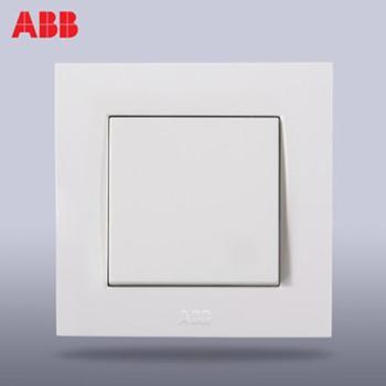 ABB开关插座面板ABB开关/超薄由艺单联/一位/一开单控AU10153-WW