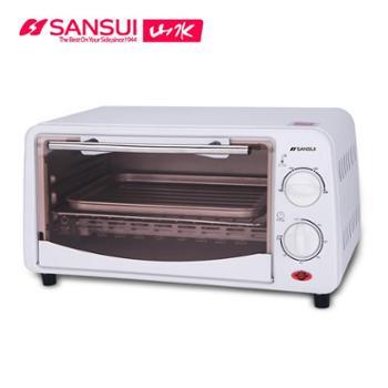 Sansui/山水立体加热高效石英管发热EF-FK1402时尚迷你电烤箱