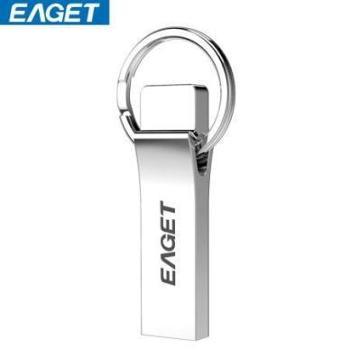 忆捷(EAGET)U9H U盘32G 全金属防水便携式U盘 银色亮薄
