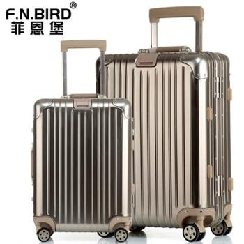 F.N.BIRD 全镁铝合金万向轮拉杆箱旅行箱登机箱行李箱