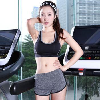 Paiyige无钢圈运动文胸短裤瑜伽服套装防震跑步训练健身服背心套装
