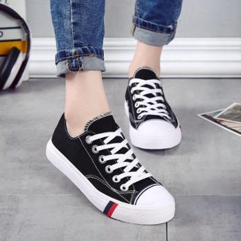 名将 春夏季新款帆布鞋女休闲鞋女板鞋学生鞋女小白鞋韩板原宿风