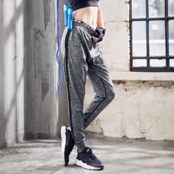 派衣阁 韩版宽松运动长裤大码专业健身跑步长裤高腰弹力速干瑜伽服长裤女