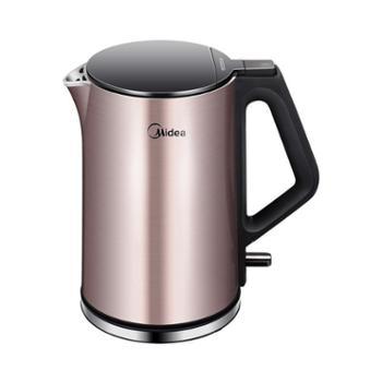 Midea/美的 304不锈钢电水壶家用防烫电热水壶1.5升 WHJ1510b