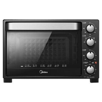 Midea/美的黑色二代32L多功能家用机械智能烘焙电烤箱T3-321C