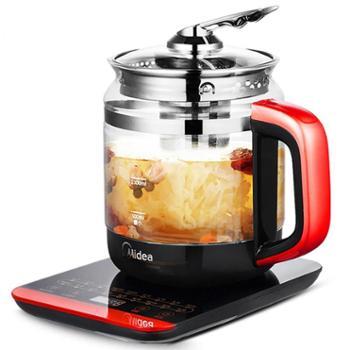 美的 电水壶 六段温控 进口防烫玻璃定时预约煮蛋泡茶 MK-GE1703C