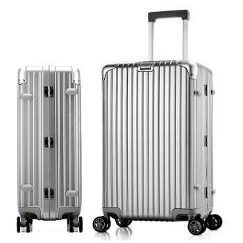 菲恩堡新款铝框万向轮拉杆箱PC行李箱登机箱旅行箱