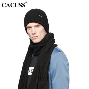 CACUSS秋冬新品毛线帽男士户外保暖韩版针织帽时尚户外套头帽