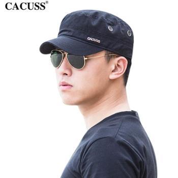 CACUSS新款帽子男军帽韩版户外潮平顶休闲帽男女士军帽可调节太阳帽