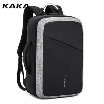 卡卡新款牛津布智能背包旅行双肩男大容量商务电脑手提带usb接口
