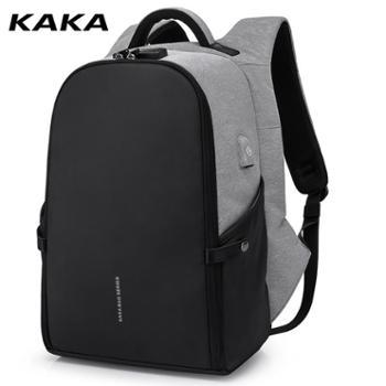 卡卡新款多功能防盗背包智能usb充电双肩包男个性商务旅行双肩包