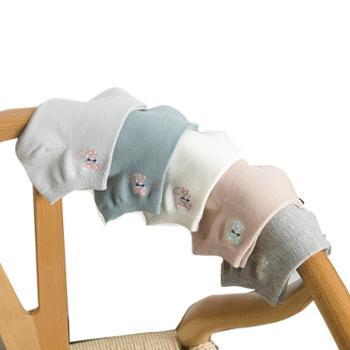 俞兆林新款船袜女士透气吸汗素色棉质小猫四季女袜