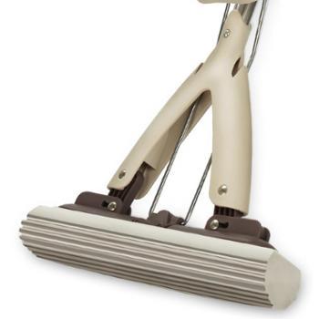 爱格日用品清洁工具懒人免手洗胶棉拖把对折海绵地拖平拖