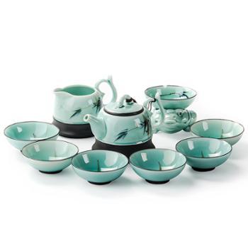 聚森 陶瓷青瓷功夫茶具套装