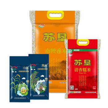 【苏垦米业】苏垦活动套餐(南粳香米5kg+糯米2kg+黑米400g+小米400g)