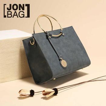 港风个性包包2017在售潮韩版新款时尚大气百搭圆环手提包斜挎女包