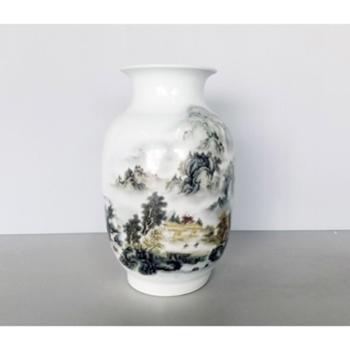 金和汇景粉彩山水花瓶