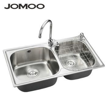 Jomoo九牧 厨房水槽 双槽 洗菜盆不锈钢水槽 02084