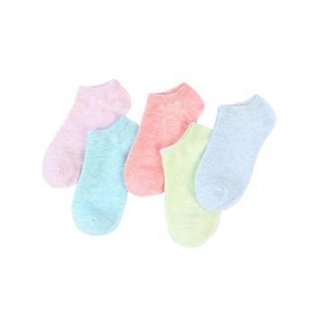 【2双装】馨霓雅女款糖果色棉质船袜6821