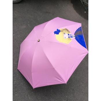 邦客牌163雨伞甜心姑娘多色太阳伞可爱晴雨伞