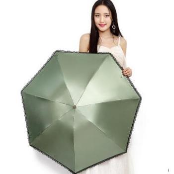 正品包邮天堂伞30018EHQ镜面彩胶三折晴雨伞遮阳防紫外线防晒伞太阳伞超轻铅笔伞