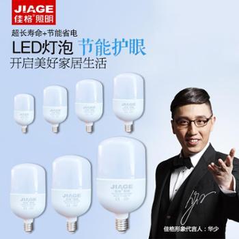 佳格LED灯节能省电家用螺旋螺口LED灯泡13w18w23w28w40w50w100w超高亮度高头泡高乐高系列