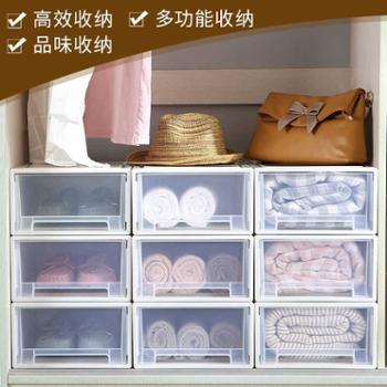 多层衣服储物箱塑料收纳箱抽屉式收纳柜透明衣柜收纳盒衣物整理箱