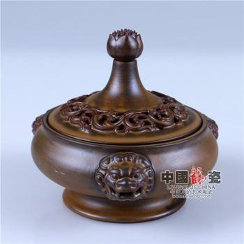 中国龙瓷定炉陶瓷熏香炉