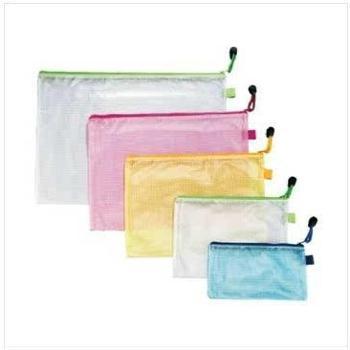 金得利FB8031B4透明网格拉链袋文件袋单个商品